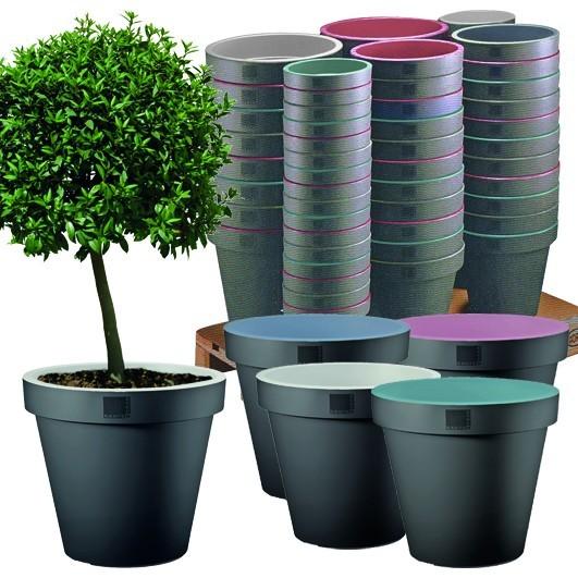 Pflanzentopf Blumentopf Blumenkübel Pflanzenkübel 30 40 und 50 cm mit Rand NEU