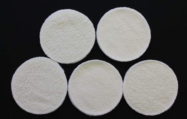 10 Stück Stilleinlagen Wolle/Bourette Seide 13,2 cm waschbar Mehrweg Einlagen NEU