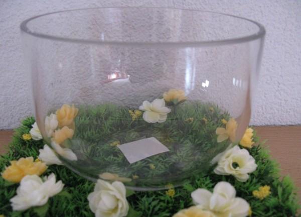 Vase Blumenvase Dekovase Obstschale Glasvase Glasschale Glas rund NEU