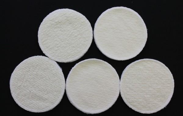 20 Stück Stilleinlagen Wolle/Bourette Seide 13,2 cm waschbar Mehrweg Einlagen NEU