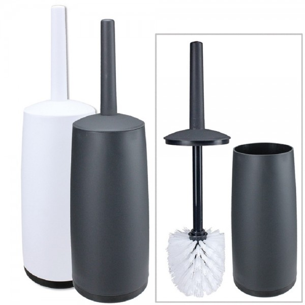 WC Bürste WC-Set Klobürste mit Ständer Kunststoff mit Deckel Neu