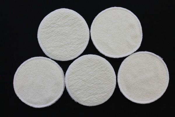 10 Stück Stilleinlagen BW-Frottee/Wolle/Bourette Seide 3-lagig 13,2 cm NEU