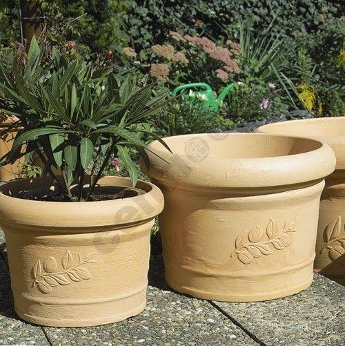 Pflanzentopf Blumentopf Blumenkübel Rotations Pflanzenkübel 50 oder 40 cm frostsicher