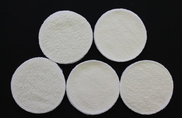 20 Stück Stilleinlagen Wolle/Bourette Seide 12 cm waschbar Mehrweg Einlagen NEU