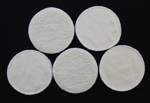 10 Stück Stilleinlagen BW-Frottee/Wolle/Bourette Seide 3-lagig 12cm NEU