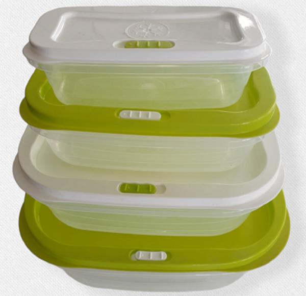 4-er Set Vorratsdosen Aufbewahrungsdosen Frischhaltebox Dampfventil Lunchbox