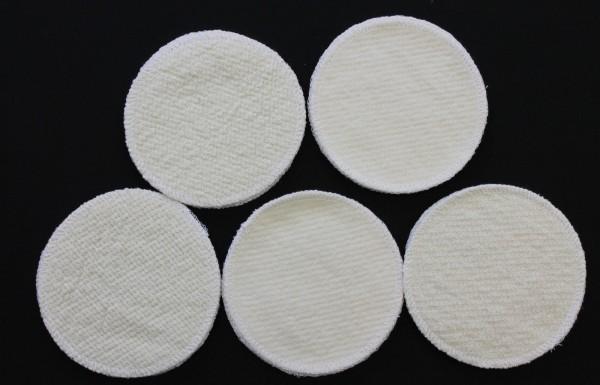4 Stück Stilleinlagen BW-Frottee/Wolle/Bourette Seide 3-lagig 12cm waschbar NEU
