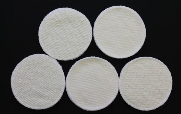 4 Stück Stilleinlagen Wolle/Bourette Seide 13,2 cm waschbar Mehrweg Einlagen NEU