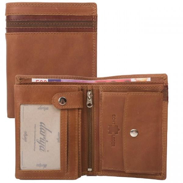 Geldbörse Geldbeutel Portemonnaie RFID Protection Rindsleder Kombibörse braun