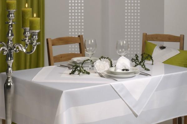 Tischdecke Tischtuch Festtagstischdecke weiß Rechteckig 160x130 cm Elegance Neu