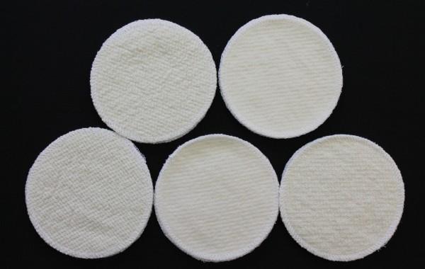 2 Stück Stilleinlagen Wolle/Bourette Seide 13,2 cm waschbar Mehrweg Einlagen NEU