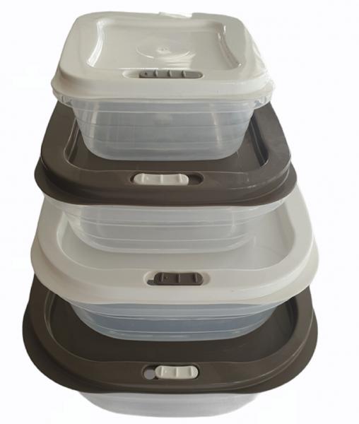 4-er Set Vorratsdosen Aufbewahrungsdosen Frischhaltebox Dampfventil Lunchbox Neu