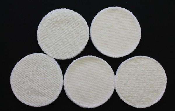 4 Stück Stilleinlagen Wolle/Bourette Seide 12cm waschbar Mehrweg Einlagen NEU