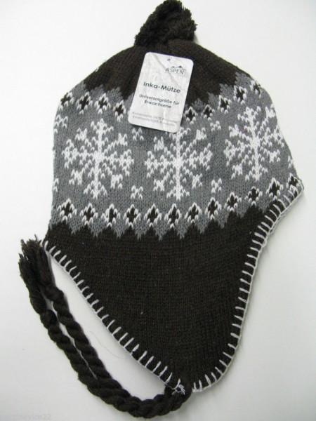Damen Strickmütze Inka Mütze Wintermütze Norweger verschiedene Farben NEU
