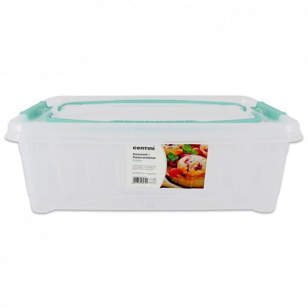 Transportbox Lunchbox Partycontainer Box Aufbewahrungsbox mit Griffe 9 Liter Neu