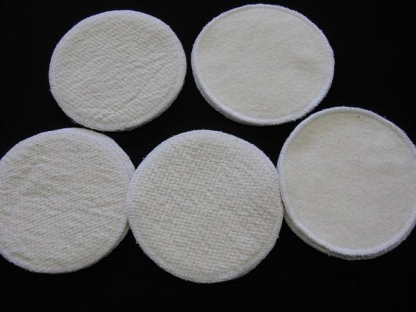 10 Stück Stilleinlagen Baumwolle/Wolle/Bourette Seide 3-lagig 13,2 cm waschbar NEU