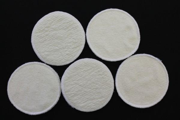 20 Stück Stilleinlagen BW-Frottee/Wolle/Bourette Seide 3-lagig 13,2 cm NEU
