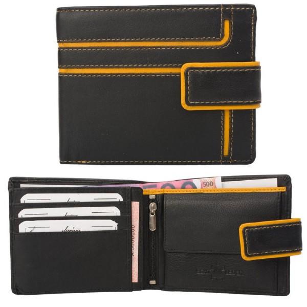 Geldbörse Geldbeutel Rindsleder großes Kleingeldfach 6 Kartenfächer Außenriegel