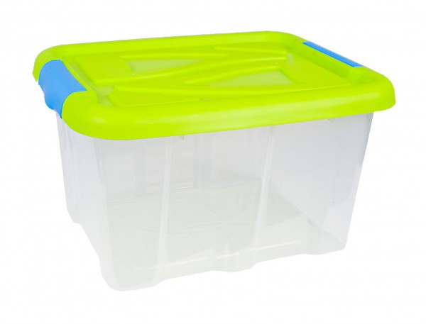 Plastikbox Aufbewahrungsbox Multibox Stapelbox Box mit Deckel 17L oder 30L NEU