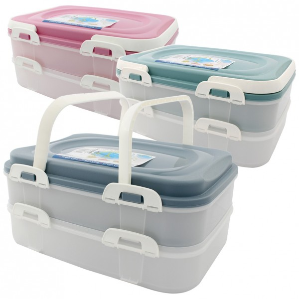 Partycontainer Box Aufbewahrungsbox Transportbox Kombibox Lunchbox 2 x 7 Liter